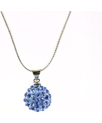 Přívěsek kulička malá s krystaly+řetízek ZDARMA PK0430-0330