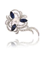 Brože Kytka s perlou stříbrná BR0186-0312