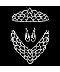 Štrasová sada MissBeauty náhrdelník, náušnice a korunka SD0072-12