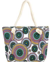 Dámská plážová taška s ornamenty a mandalami