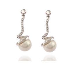 Náušnice perla s krystalky NE0708-0312