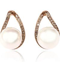 Náušnice perličky s krystalky NE0713-0301