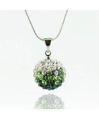 Přívěsek discoballs dvoubarevný velké s krystaly + řetízek ZDARMA PK0419-0310