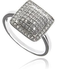 Prsten hranatý Silver Edge s zirkony PR0031-055712