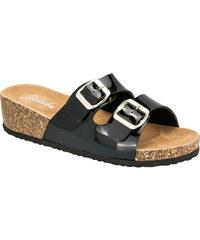 Dámské pantofle Balada lesklé na platformě