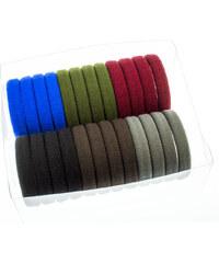 Gumičky do vlasů multicolor 24ks VG0003-13