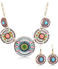 Sada etno náušnice a náhrdelník indiánský vzor SD0062-10