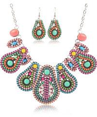Sada etno náušnice a náhrdelník kapky SD0061-06