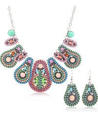 Sada etno náušnice a náhrdelník kapky SD0061-10