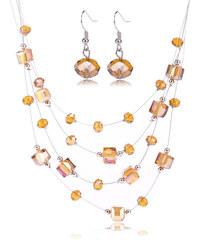 Sada kostičky a kuličky náušnice s náhrdelníkem SD0059-09
