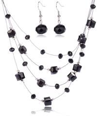 Sada kostičky a kuličky náušnice s náhrdelníkem SD0059-02