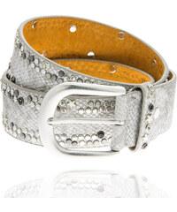 Dámský pásek motiv hadí kůže s kaminky PZ0001-212