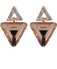 Náušnice trojúhelníky s krystalem NE0008