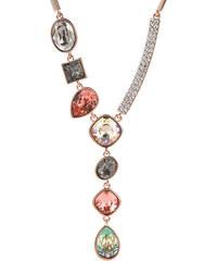 Náhrdelník společenský s krystaly Swarovski elements barva červené zlato NK0098-0206