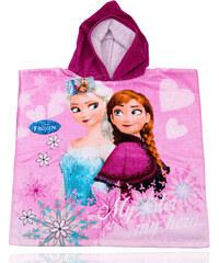 Plážová osuška s kapucí Frozen Elsa a Anna DY0001-06