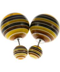 Náušnice kuličky multicolor oboustranné NE0665-0308