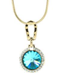 Přívěsek krystal Swarovski elements s řetízkem zlatá barva PK0090-0216