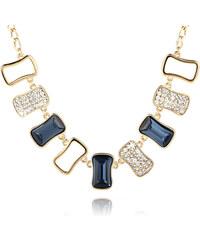 Náhrdelník obdélníky s krystaly Swarovski elements zlatá barva NK0091-0205