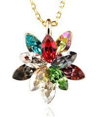 Přívěsek kytička s krystaly Swarovski elements zlatá barva PK0071-0210