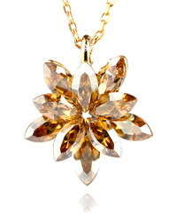 Přívěsek kytička s krystaly Swarovski elements zlatá barva PK0071-0234
