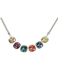 Náhrdelník barevné krystaly povrch platina NK0200-0334