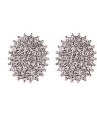 Náušnice oválky s krystalky NE0041-0212