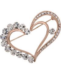 Brož srdce s krystalky BR0039-0214