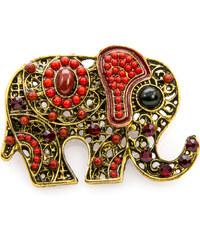 Brož slon etno styl BR0171-0303