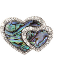 Brož srdíčka s Paua perletí BR0046-0410