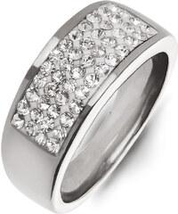 Prsten chirurgická ocel s čirými krystalky PR0106-016012