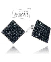 Náušnice čtverec s krystaly Swarovski elements NE0606-0302
