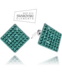 Náušnice čtverec s krystaly Swarovski elements NE0606-0316