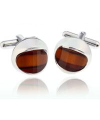 Manžetové knoflíky kulaté s krystalem MK0038-0308