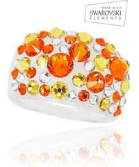 Prsten Bubble akryl Swarovski elements PR0068-145909