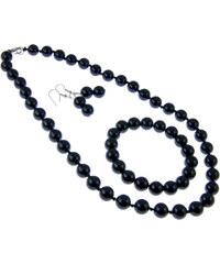 Sada šperků z polodrahokamu - achát černý SD0029-02