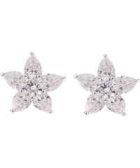 Náušnice květina s krystaly NE0596-0312