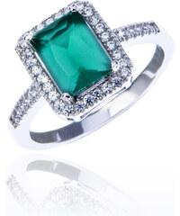 Prsten ze stříbra s krystalky PR0048-095741