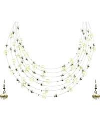 Sada náušnice a víceřadý náhrdelník s krystaly SD0045-11