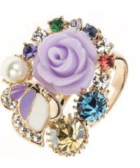Prsten růžička a motýl koktejlový PR0080-035Y22