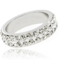 Prsten chirurgická ocel barevné krystalky PR0055-016901