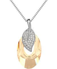 Přívěsek s řetízkem ovál s krystaly Swarovski elements PK0219-0334