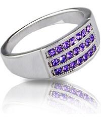 Prsten barevný s krystaly Swarovski elements PR0022-035222