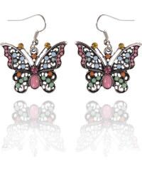Náušnice etno motýlci s patinou NE0168-0306