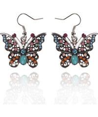 Náušnice etno motýlci s patinou NE0168-0305