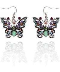Náušnice etno motýlci s patinou NE0168-0310