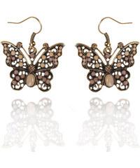 Náušnice etno motýl s patinou NE0169-0308