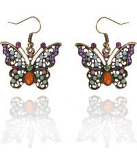 Náušnice etno motýl s patinou NE0169-0309