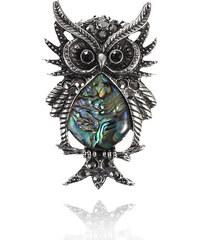 Přívěsek sova s Paua perletí PK0162-0337