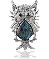Přívěsek sova s Paua perletí PK0162-0312