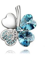 Brož čtyřlístek s krystaly Swarovski elements BR0028-0130